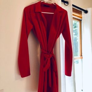 Missguided Red Short Trench